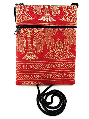 Passport Wallet Red Elephant Bag Strap with Small Crossbody Purse Strawberry Cellphone Phone qPwfz8Ux