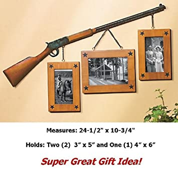 Amazon.com: HUNTING RIFLE PICTURE FRAME COLLAGE FAMILY WALL HUNTER ...