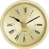 2-1/2'' Gold Roman Clock Insert