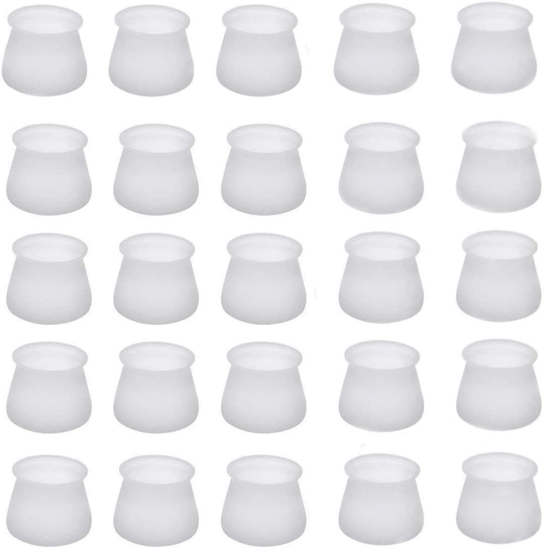 CAMTOA Furniture Silicon Protection Cover- 32PCS Furniture Leg Silicon Protection Covers, Anti-Slip Table Feet Pad Floor Protector - Foot Protection Bottom Cover Prevents Scratches and Noise …