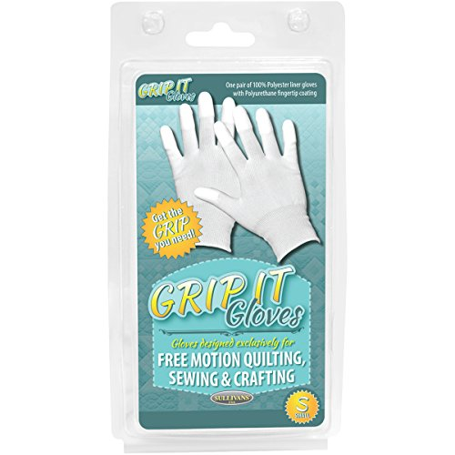 Sullivans 48668 Grip Gloves for Free Motion Quilting, Small