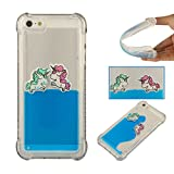 clear back blue bumper iphone5s - Lomogo [Liquid Horse] iPhone 5S / iPhone SE / iPhone 5 Case Shockproof Anti-Scratch Silicone Case Cover for Apple iPhone 5S / SE / 5 - YIBO36231 Blue