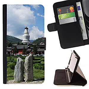 LG Magna / G4C / H525N H522Y H520N H502F H500F (G4 MINI,NOT FOR LG G4)Case , Naturaleza- la tarjeta de Crédito Slots PU Funda de cuero Monedero caso cubierta de piel