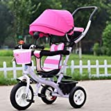 GOUGOU Children tricycle Bike Baby Bicycle Stroller , C