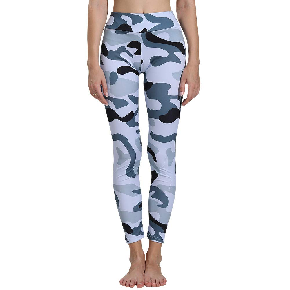 Camouflage Soft Yoga Pants, Womens Fashion Workout Leggings ...