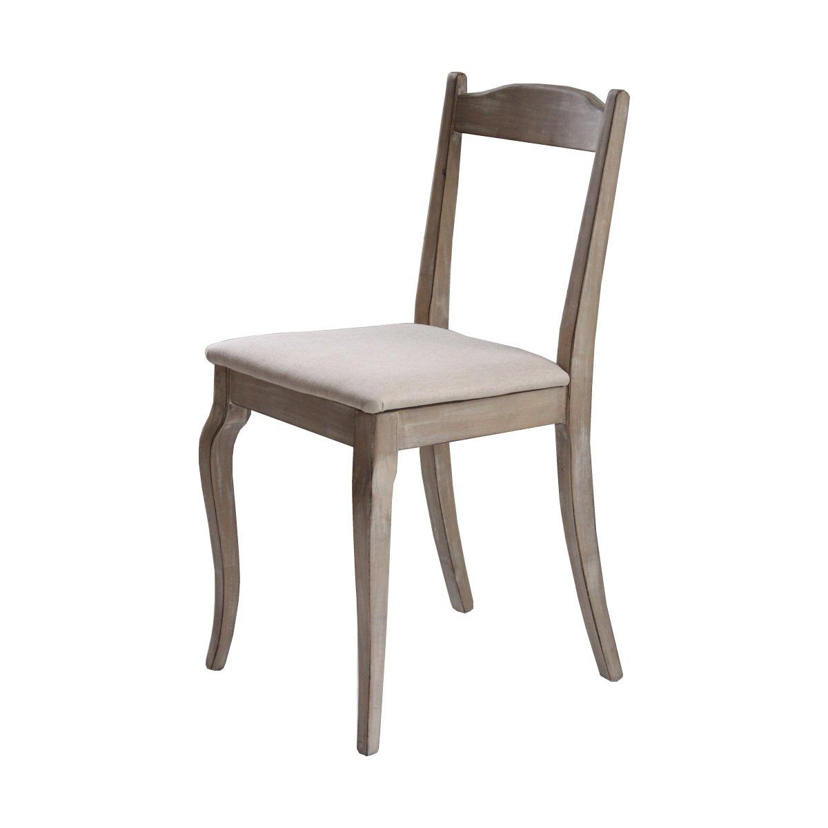 ホワイト/Shabby chic Desk chair デスクチェア チェア イス 椅子 ダイニングチェア シャビーシック エレガント アンティーク 木製 B01BOLW5E2ホワイト