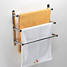 Turs Stainless Steel Bath Towel Rack 3-Tier Shelves Ladder Towel Bars Wall Mounted,Polished 19.7 inch