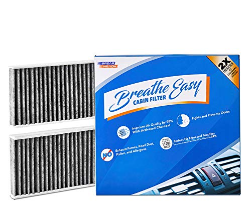 Spearhead Premium Breathe Easy Cabin Filter, Up to 25% Longer Life w/Activated Carbon (BE-553) ()