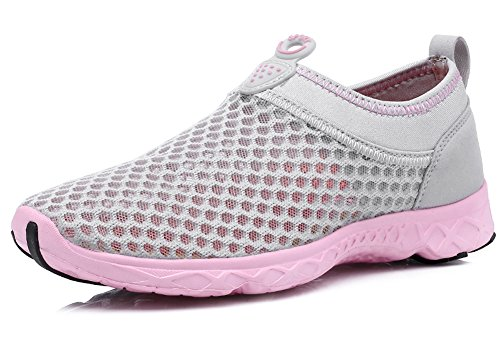 Beach Running Drive Rainy Grey Aqua Light Ausom Athletic Breathable Water Sneakers Outdoor Womens Shoes Walk FpSSXqB