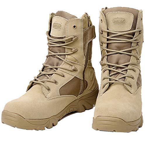 Resistente al Desert Boots otoño Aire Boots e Combate Hasag Senderismo Army Zapatos montaña Zapatos Tactical Invierno de Wear Amarillo Impermeable de 6 Libre Men OTCRX1