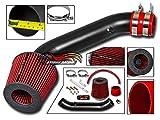 Velocity Concepts MATT BLACK Short Ram Air Intake Kit + RED Filter 94-01 Acura Integra LS/RS/GS 1.8L