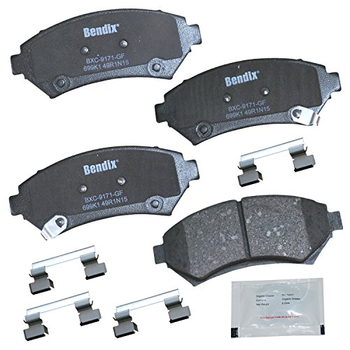 Bendix Premium Copper Free CFC699K1 Premium Copper Free Ceramic Brake Pad (Front) ()