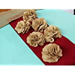 3-Burlap-Rustic-Flowers-Rose-18-Pcs-ChicWedding-DecorCraft-CountryNatural
