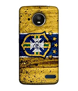 ColorKing Football Brazil 17 Yellow shell case cover for Motorola Moto E4