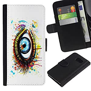 All Phone Most Case / Oferta Especial Cáscara Funda de cuero Monedero Cubierta de proteccion Caso / Wallet Case for Sony Xperia Z3 Compact // Painted Eye