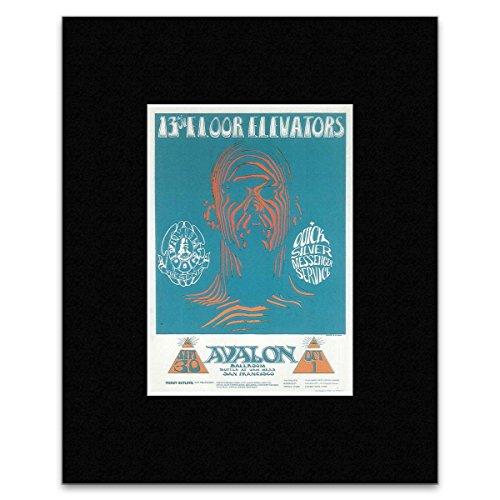 13th Floor Elevators Quicksilver Messenger Service - Avalon Ballroom San Francisco Sept 66 Mini Poster - 25.4x20.3cm