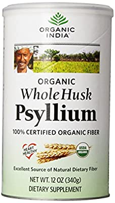 Organic India Whole Husk Psyllium, 12 Oz from Organic India