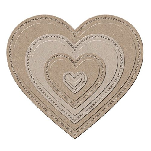 Little B 100384 11-Piece Nesting Hearts Cutting Dies