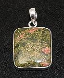 Sterling Silver Natural Unakite Jasper Pendant Jewellery No.3040