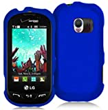 Blue Rubberized Hard Case Cover for Verizon LG Extravert VN271