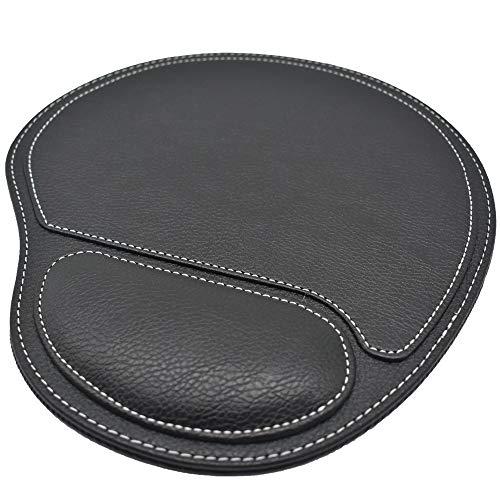 DoDoLightness Ergonomic Leather Mouse Pad with Wrist Comfort Memory Foam Waterproof Surface