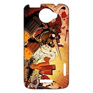 3D Print Classic Animated Film Series&Axe Cop Case Cover for HTC One X- Personalized Hard Cell Phone Back Protective Case Shell-Perfect as gift