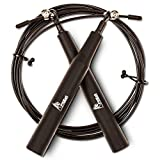 Jump Rope Effective for Workout, Speed Training, Double Unders, Boxing, MMA and Fitness - Adjustable for Adults and Kids w/ Bearing Balls - Carry Bag Included and 3 Premium Bonus eBooks by FitEat.
