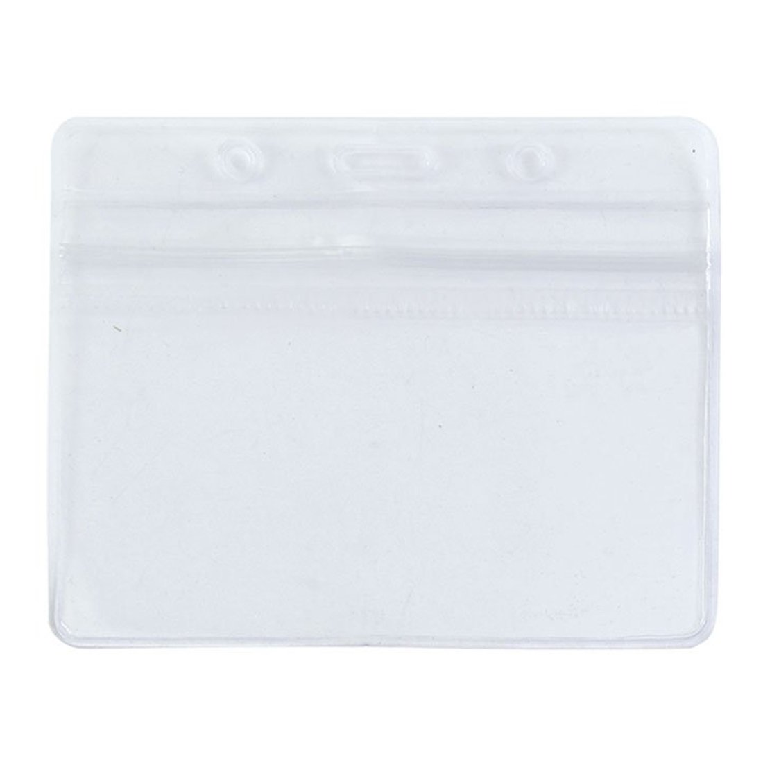 REFURBISHHOUSE 2 x Funda de PVC transparente Impermeable Exposicion horizontal para Tarjeta de identificacion Funda de tarjeta Insignia