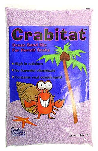 CaribSea Aquatics SCS00604 Crabitat Hermit Crab Sand, 2.2-Pound, Purple by Carib Sea