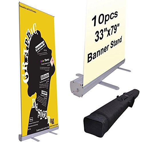 MegaBrand Wholesale 10pcs 33'' x 79'' Rollup Retractable Banner Stands by MegaBrand