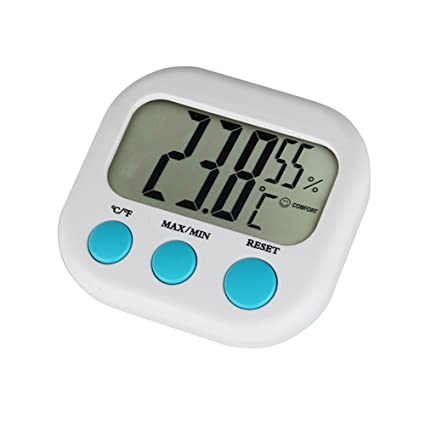Termómetro Digital, casa hogar electrónico termómetro digital para interior humidimty Medidor higrómetro con min/