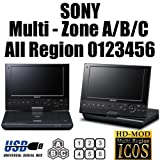 SONY BDP-SX910 Multi Zone All Region Free DVD Blu-Ray Disc Player - Watch BD ZONE A/B/C & Standard DVD Region 0 1 2 3 4 5 6 7 8 PAL/SECAM NTSC. 100~240V 50/60Hz World Wide Voltage