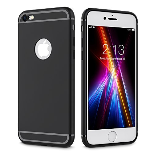 iPhone 6 Plus Case, iPhone 6S Plus Case,Mokcoo Slim Fit Soft Gel Cover Case with Protection Ultra thin Anti-scratch TPU Case for Apple iPhone 6 Plus/ iPhone 6S Plus (Black)