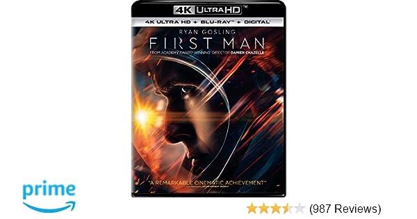 Amazon com: First Man [Blu-ray]: Ryan Gosling, Claire Foy, Jason