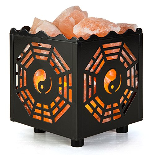 CRYSTAL DECOR Natural Himalayan Salt Lamp in Sun Design...