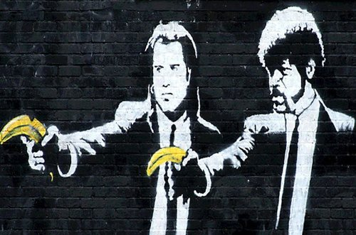 Banksy Reproduction Fiction Bananas Measures product image