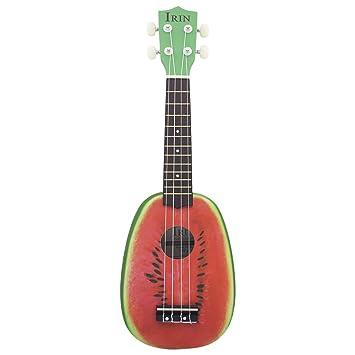 """ammoon® 21"""" Ukelele 4 Cuerdas Lindo Tilo de Sandía Cuerda Instrumento Musical Regalo de"""