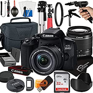 Canon EOS 850D / Rebel T8i DSLR Camera with 18-55mm Zoom Lens + Platinum Mobile Accessory Bundle Package Includes…