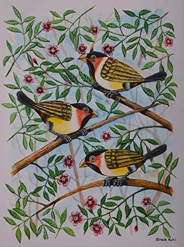 Birds Painting 25 Poster Color Painting By Santosh Patil Santosh