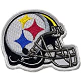 Pittsburgh Steelers Helmet. Patch Iron On. Sew On. Size 3' x 4' (75mm x 100mm)