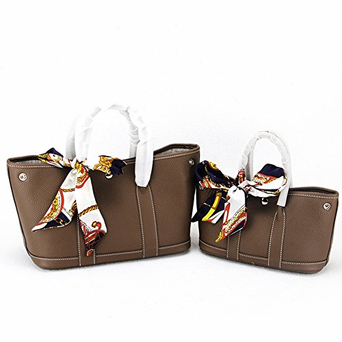 Weibliche Tasche Litschi Erste Schicht aus Leder Mode Handtasche Schultertasche , khaki