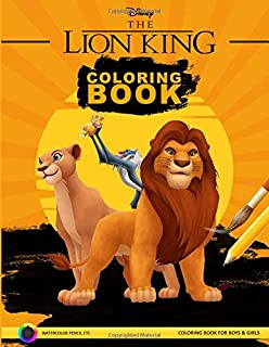 Coloring Book The Lion King Best Seller Stress Relief Serenity