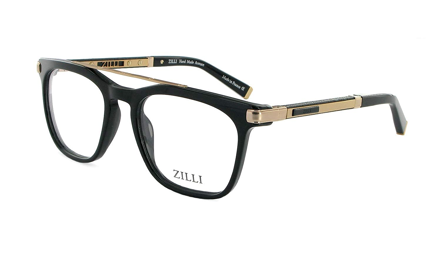 6d1bf9a7e06 Amazon.com  ZILLI Luxurious Eyewear ZI 60018 54-17-140 Made with Crocodile  Leather and Titanium HAND MADE IN FRANCE