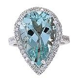 835-Carat-Natural-Blue-Aquamarine-and-Diamond-FG-Color-VS1VS2-Clarity-14K-White-Gold-Cocktail-Ring-for-Women-E