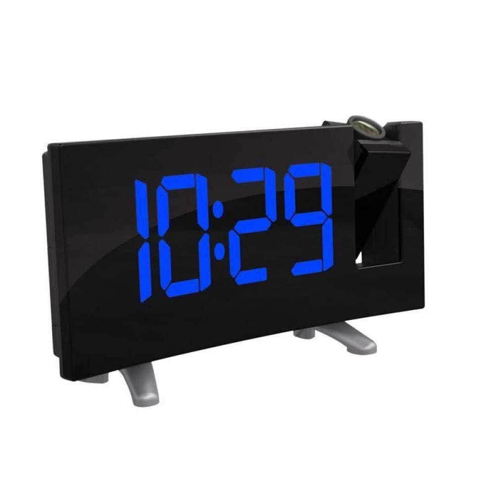 DZXYW Reloj Despertador Proyector Electrónico FM Radio Despertador ...