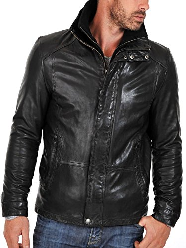 Leather Leather Junction Junction Giacca Uomo Giacca Black Uomo pgw4qnEE