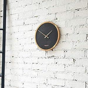 London Clock Reloj de Pared Grande de Carbono, Acacia, 35 x 35 x 4 cm 11
