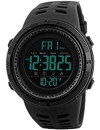 1251 Digital Men Sport Watch, Stopwatch, Dual Time, Alarms, EL Backlight, Calendar, Timer