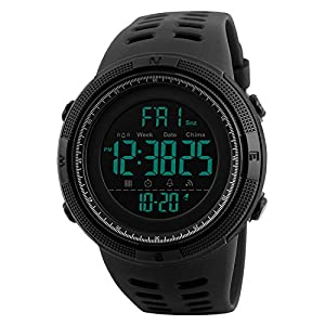 Watches Men's Digital Sport Watch Electronic LED Fashion Brand Waterproof Outdoor Casual Black Watch