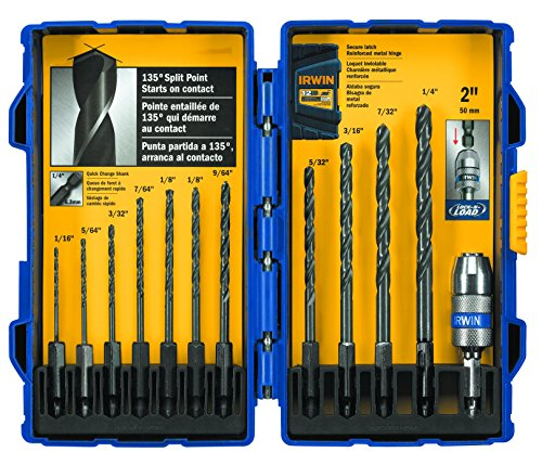 IRWIN Tools Black Oxide Hex Shank Drill Bit, 5/64-Inch